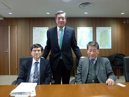 竹下亘復興大臣との懇談 | 社会福祉法人 日本盲人会連合