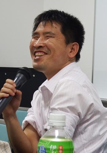 昨年の8月に開催された馬場村塾・第5夜「弱視から全盲になった私の話」から。コミュニケーションの大切さを感じたと語る大川さん。