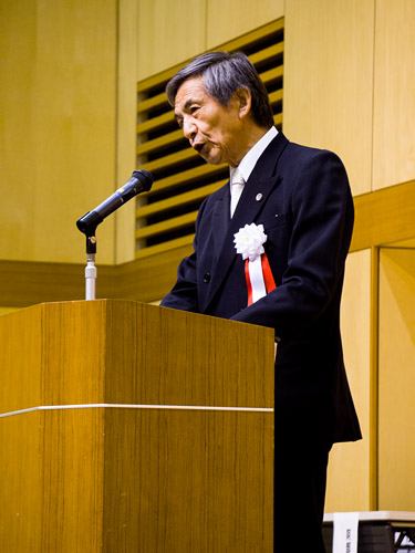 竹下会長のスピーチ
