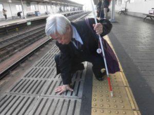 上新庄駅視察の様子