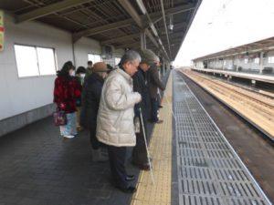 上新庄駅の視察の様子
